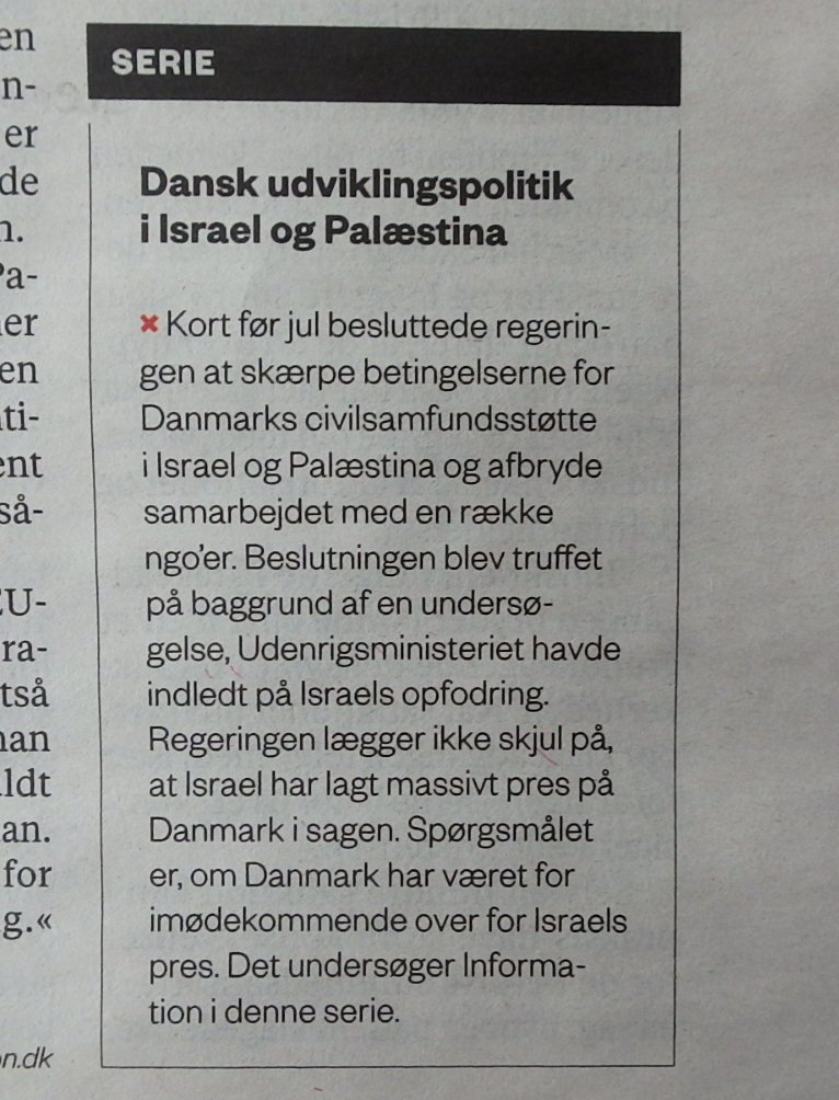 Er den danske egering blevet opfodret af Israel?  Man havde det jo paa fornemmelsen . . . @Informeren #Israel https://t.co/kvkP8dJVsy