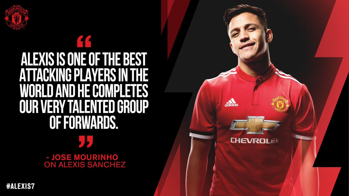 The boss is pleased with #MUFC's new no.7...  #Alexis7
