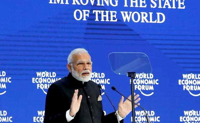 #PMNarendraModi at #wef, #Davos. India has always contributed toward global peace. Let us create a 'heaven of freedom', where there is cooperation and not division, fractures.