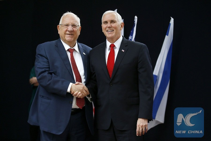 US Vice President Mike Pence met with Israeli President Reuven Rivlin, stressing tight alliance between the U.S. and Israel will only grow stronger, to achieve a lasting peace and end the decades-long conflict https://t.co/U4e5MAcHG1