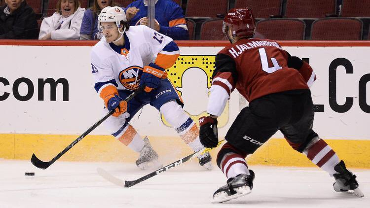 Matthew Barzal reached the 50-point mark in his 49th game this season. The only other rookies in Islanders history to require fewer than 50 games to hit the 50-point plateau were Bryan Trottier in 1975–76 and Mike Bossy in 1977–78 #elias
