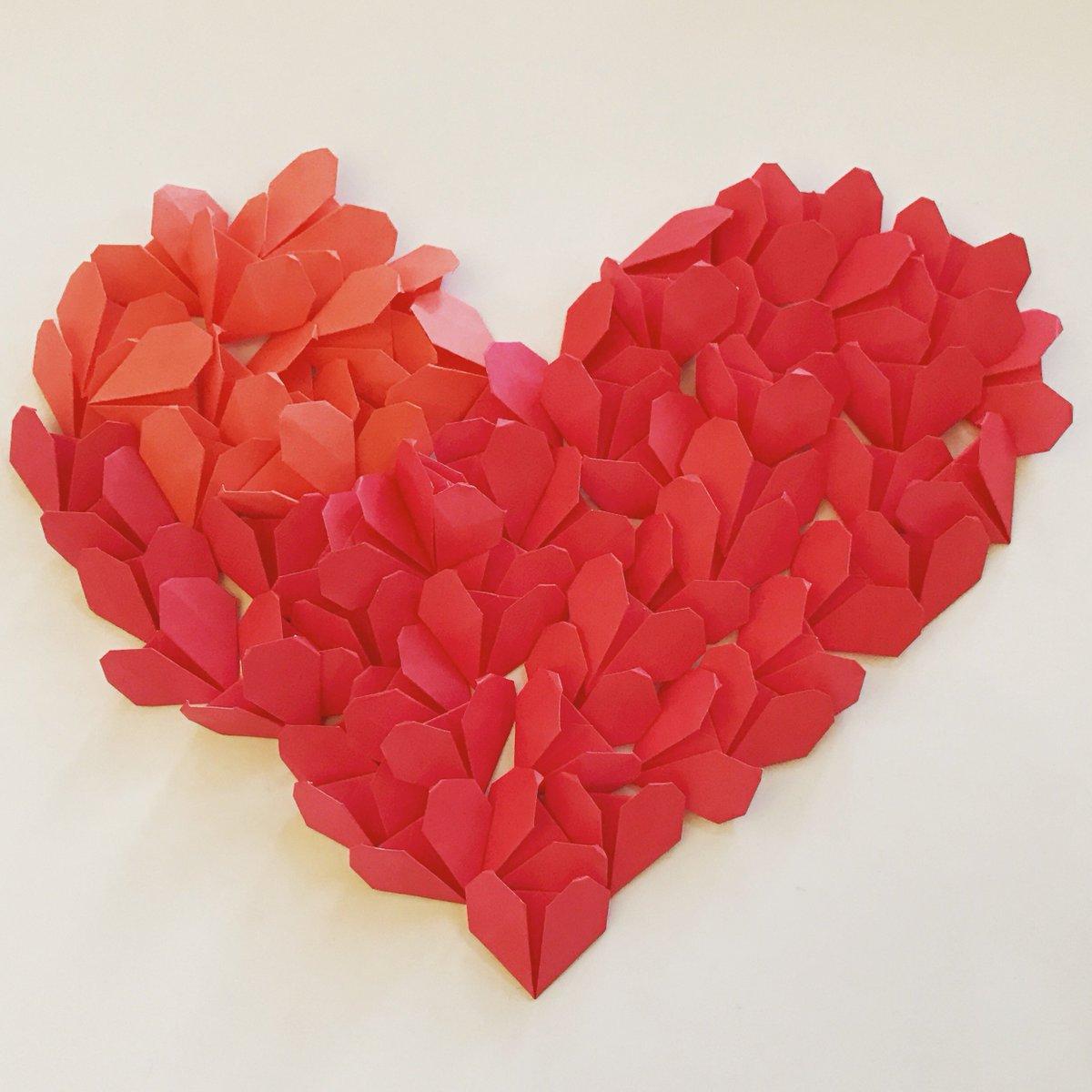 Сердечки из бумаги для поздравления