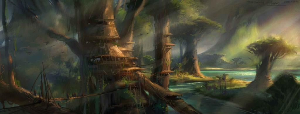 Star Wars On Twitter Revenge Of The Sith Concept Art For Kashyyyk Before The Attack On The Wookiees
