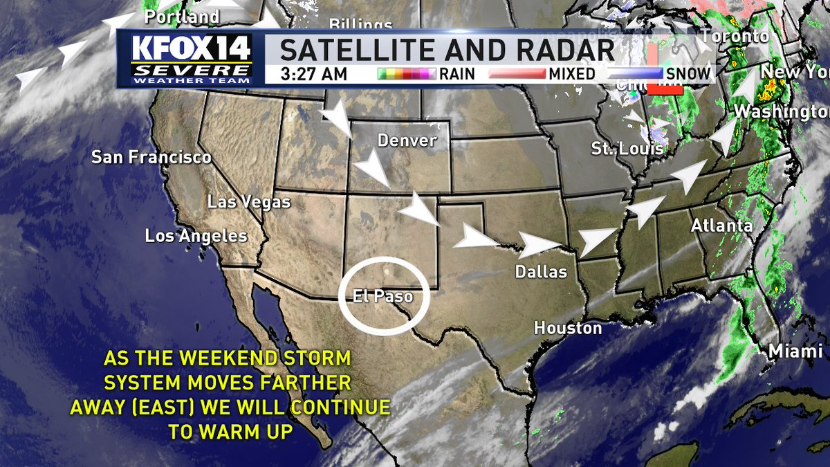 For a full look at what's ahead for your Tuesday, Brad has your forecast coming up next on the @KFOX14 Morning News.