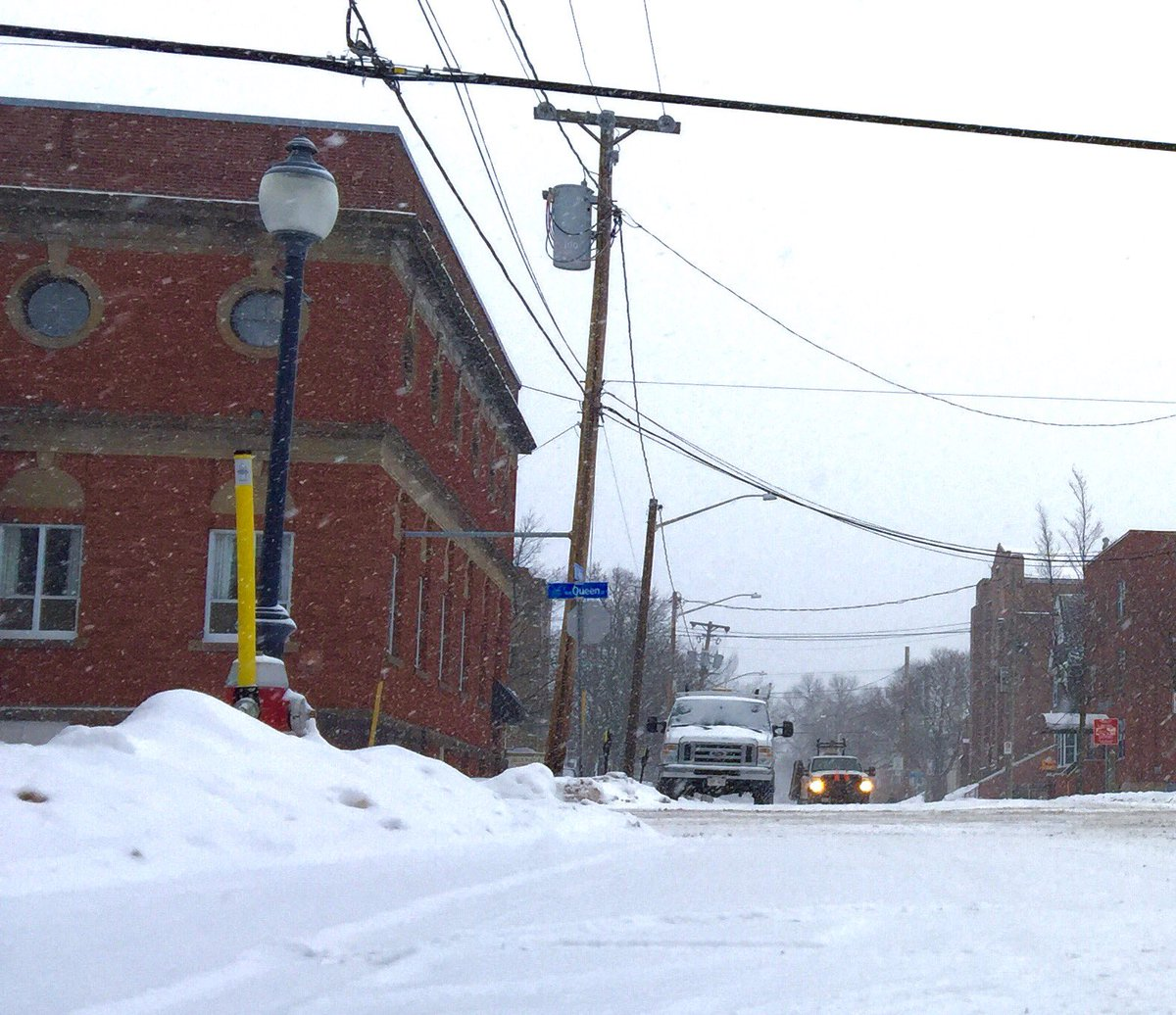 Big snowflakes still falling in Moncton. Slippery driving throughout NS & NB today.