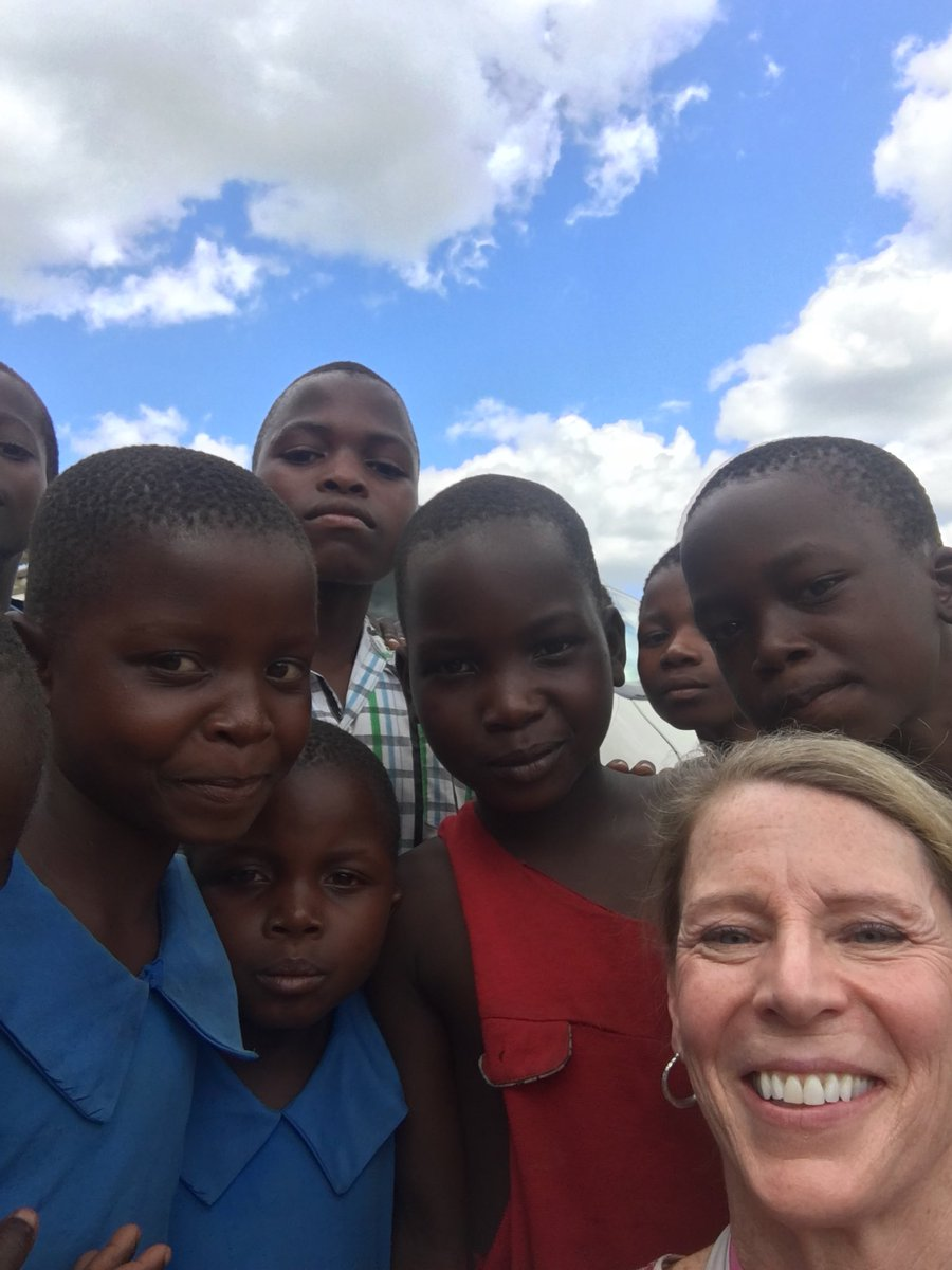 With kids in #Zomba today opening two new schools!  Education is the key to the future here.