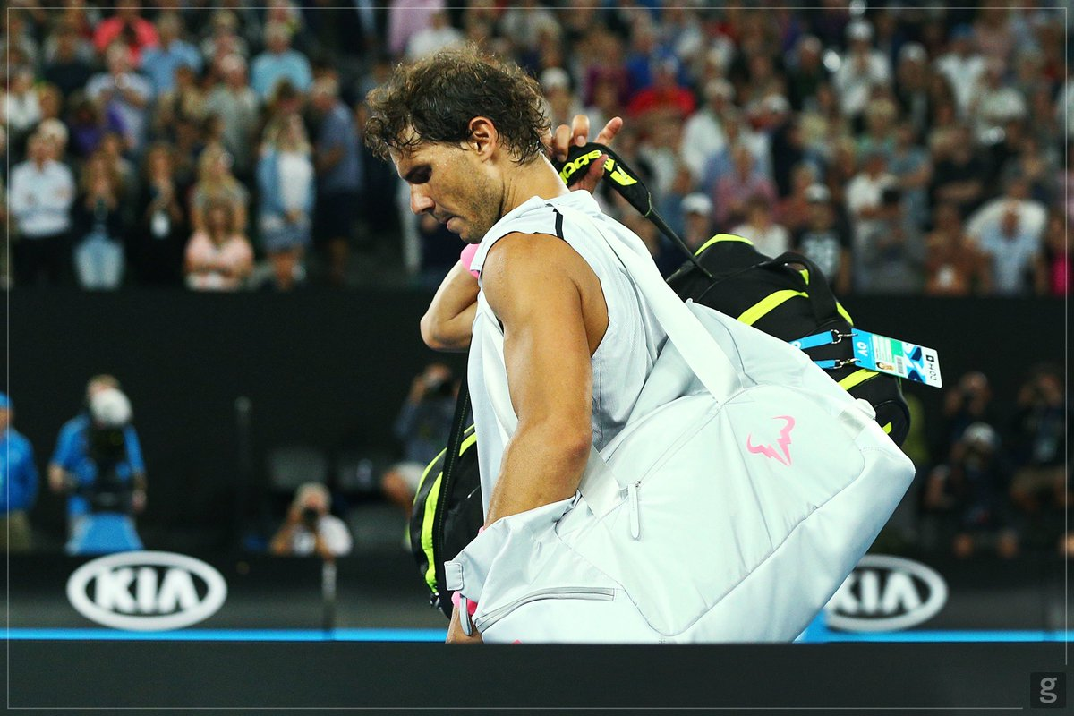 Sadly leaving the #ausopen tonight. I'll get an MRI tomorrow morning to see what is the injury. Thanks for the support to all my fans