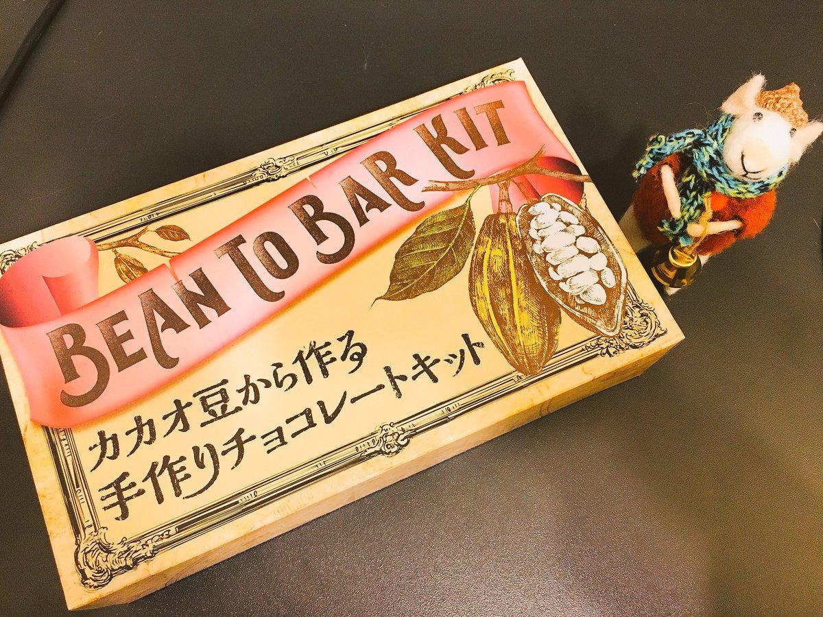そういえばカルディでガチの手作りチョコキット見つけた。手作りってどこから?あのね、カカオの豆を砕くところから。TOKIOみあるバレンタインを我が家に!