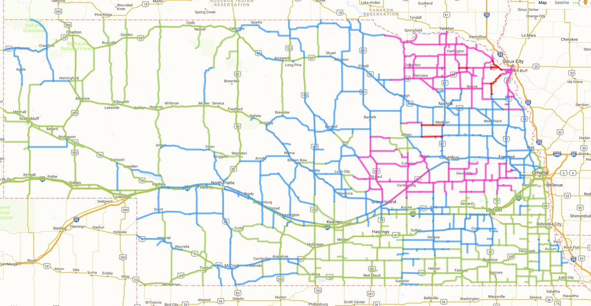 511 nebraska road conditions map Nebraska Dot On Twitter Road Conditions Are Slowly Improving 511 nebraska road conditions map