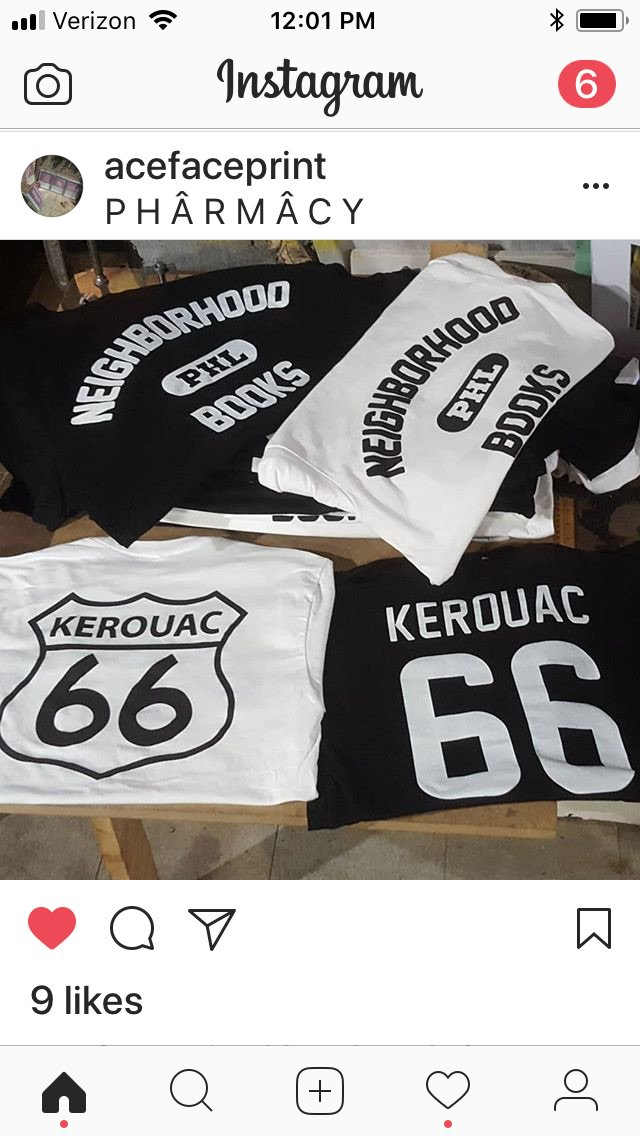 Our latest shirt! In store and online tomorrow!  #jackkerouac #jack #kerouac #ontheroad #ROUTE66 #dharma #Bums #Beats #TShirt #tshirts #tshirtdesign #author #authors #writers #Novel #writerslife    http:// authorshirts.com  &nbsp;  <br>http://pic.twitter.com/Dh5KaoyDbp