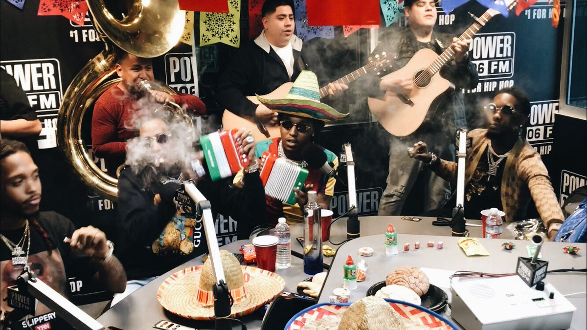 """""""This is much love from our culture."""" - @CeceTheMamacita   """"Migos, the Amigos. We going Mexican with the Migos."""" - @JCRUZ106   @Migos  #TheCruzShow #CultureII"""