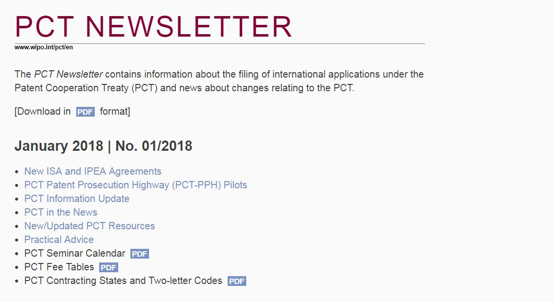 Wipo On Twitter Just Out Pct Newsletter Has Latest On The