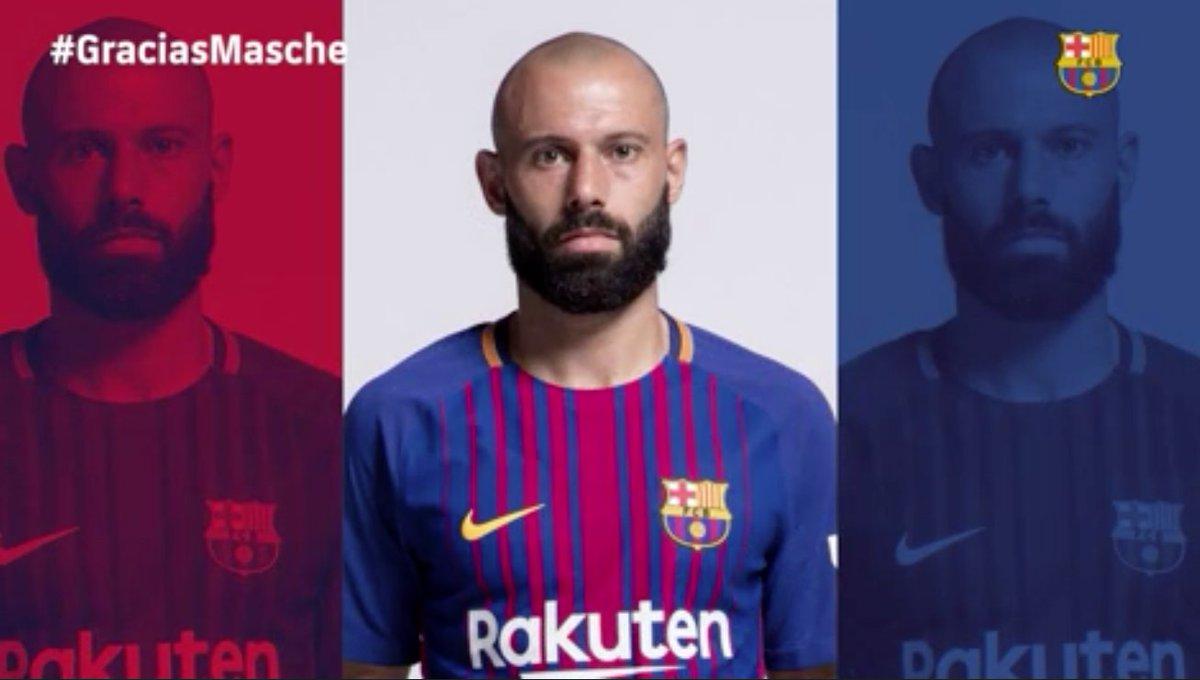 Hora da despedida! Barcelona fez sua homenagem a Javier Mascherano.  Via: @FCBarcelona  #SelecaoSporTV
