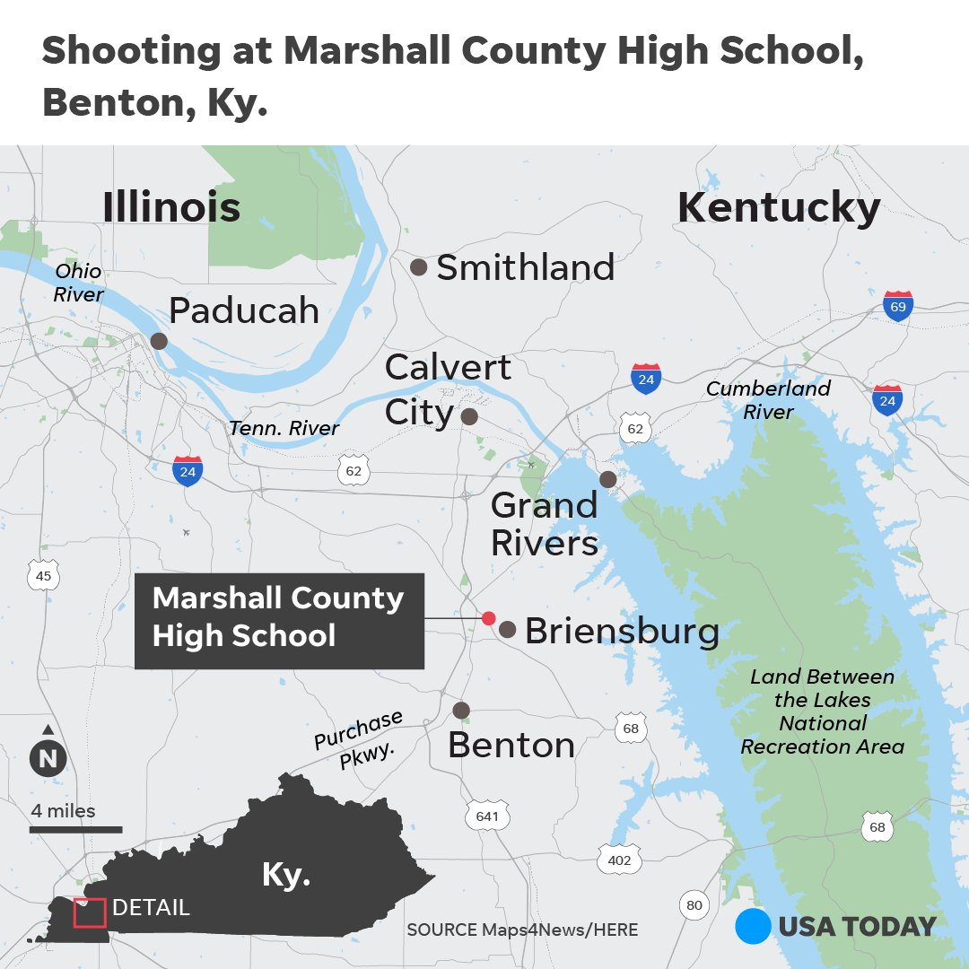 At least person was killed and others wounded in a high school shooting in Benton, Kentucky, Gov. Matt Bevin confirmed on Twitter. Bevin added that the suspect was in custody. https://t.co/dGoElt0K9P