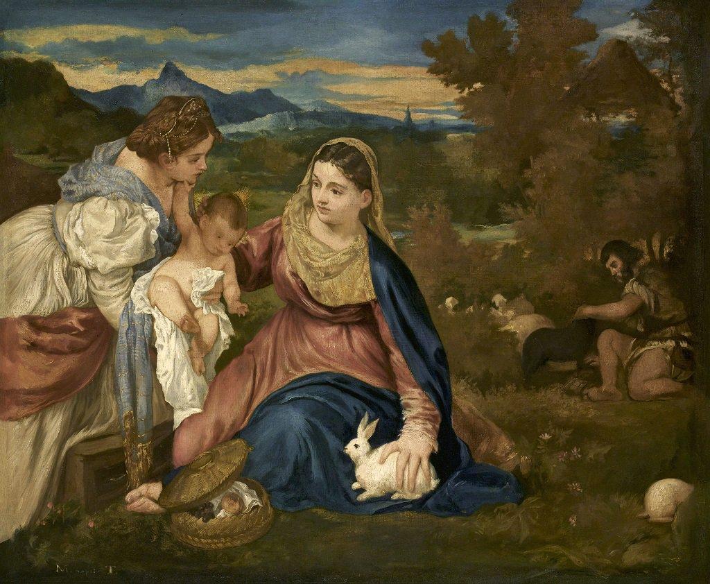 Edouard #Manet, né #CeJourLa en 1832, a peint cette magnifique copie de « La Vierge au lapin » d'après Titien. Il l'a probablement réalisée au sein même du musée dans les années 1850 et elle est désormais exposée à côté de l'original (2e étage du #PavillonHorloge, aile Sully !)
