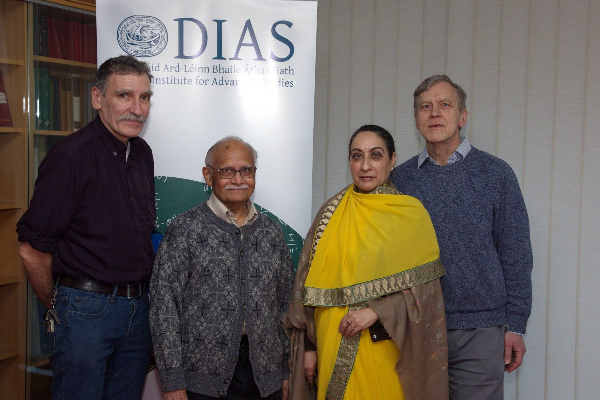 test Twitter Media - Her Excellency Vijay Thakur Singh, Ambassador of the Republic of India to Ireland visited @StpDias  today for #BalFest80  She is pictured below with Prof A. P. Balachandran, Prof Werner Nahm & Prof Denjoe O'Connor, both of @StpDias  #StpDias https://t.co/XIRfaVnQDG