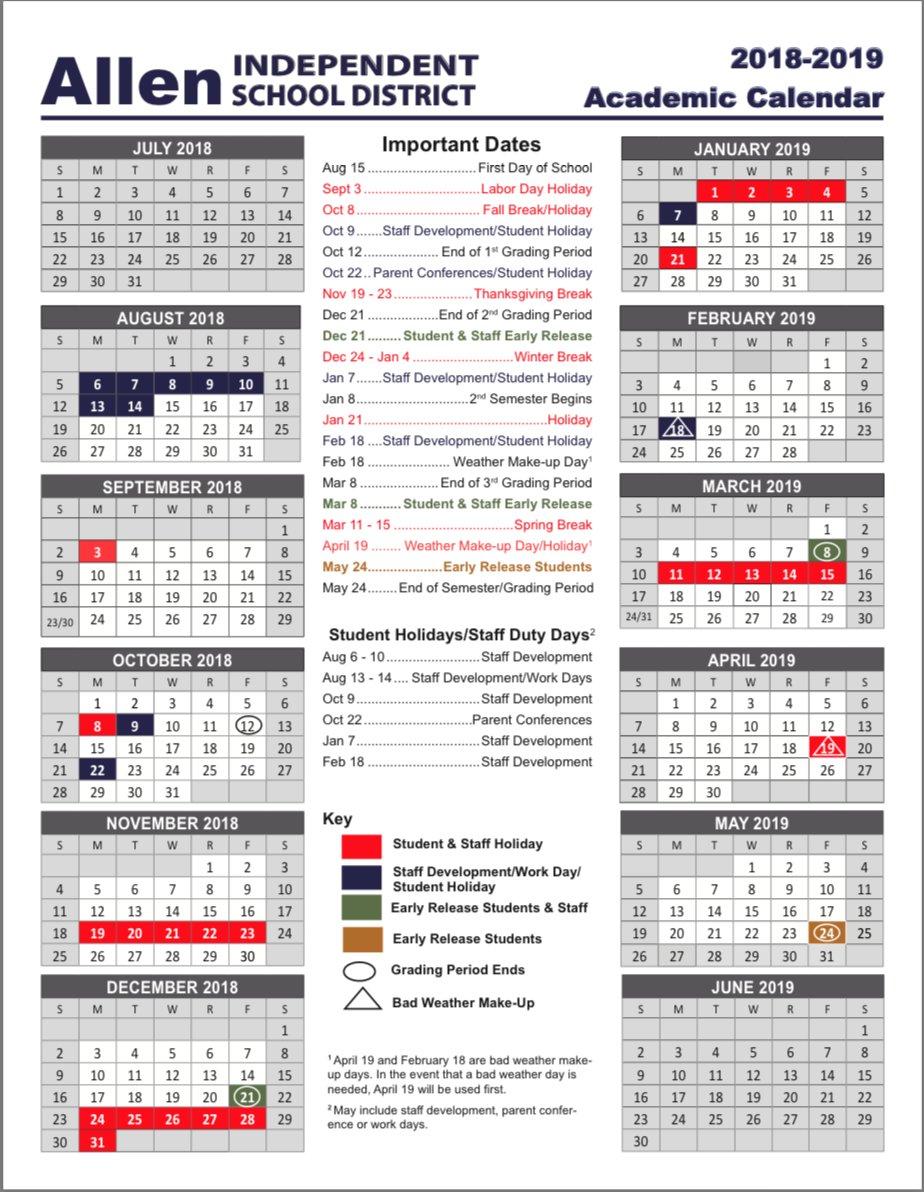 Allen Isd Calendar 2020 Allen ISD on Twitter: