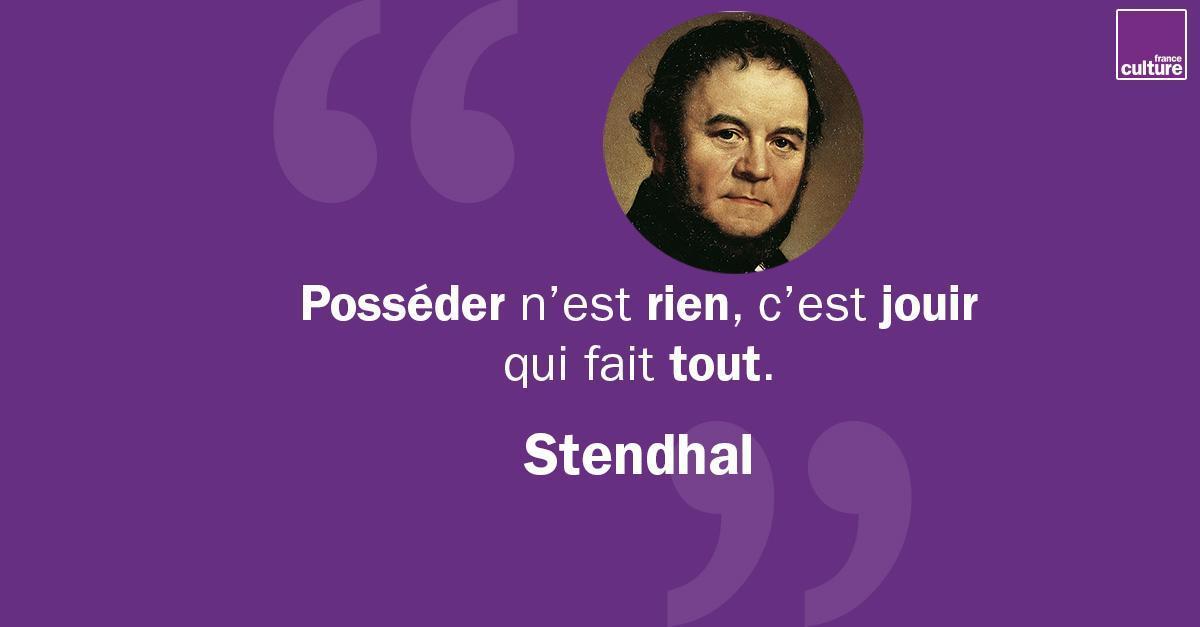 23 janvier 1783 : Naissance de Stendhal. Ses romans mettent en scène la vie amoureuse à travers des histoires passionnelles. Mais Stendhal ne se contente pas d'imaginer, il devient théoricien quand il aborde des concepts comme la 'cristallisation'. https://t.co/pirmLUp9f2