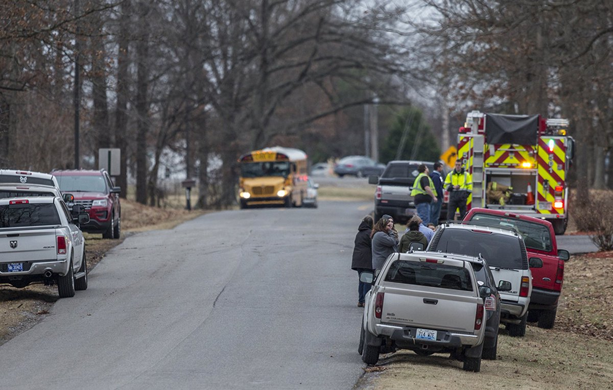 Nearly 100 kids ran out of Marshall County High School when gunfire rang out.  'They was running and crying and screaming,' a nearby business owner and father of a 16-year-old student said. 'They was just kids running down the highway. They were trying to get out of there.'