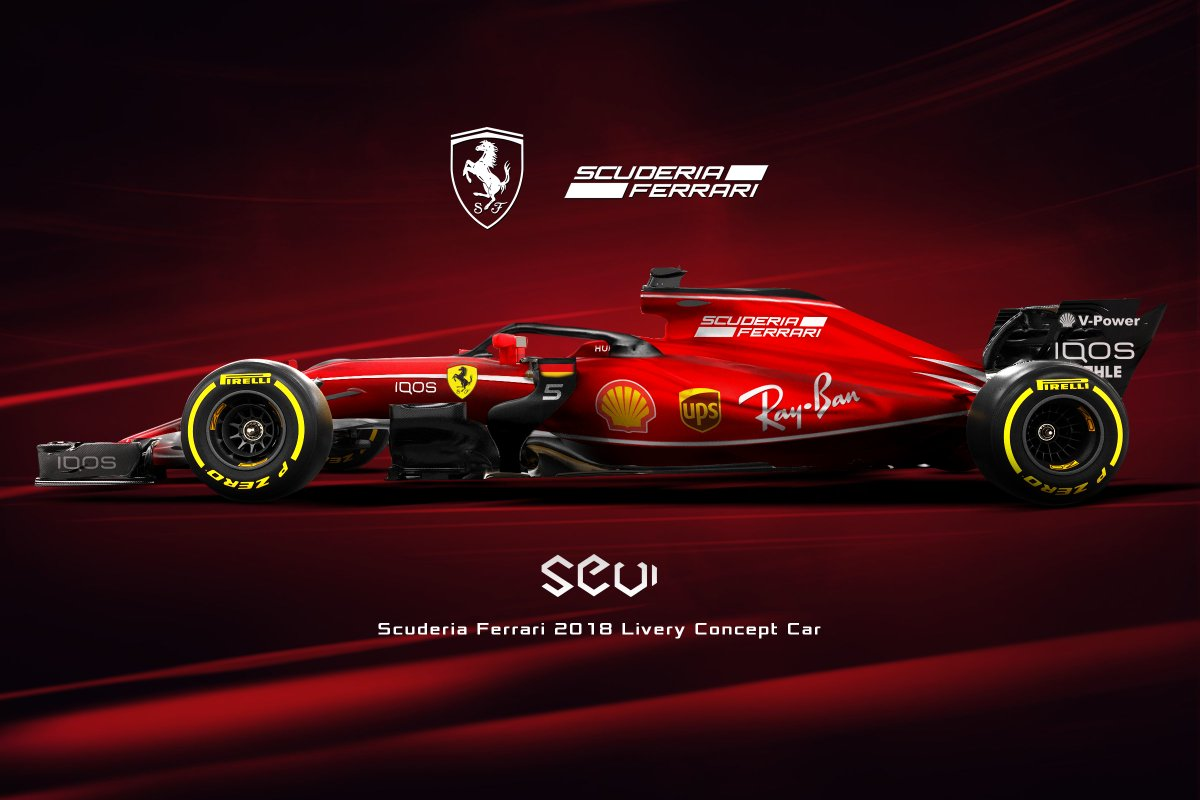 sevigraphics on twitter return to black f1 2018 scuderiaferrari livery concept car f1. Black Bedroom Furniture Sets. Home Design Ideas