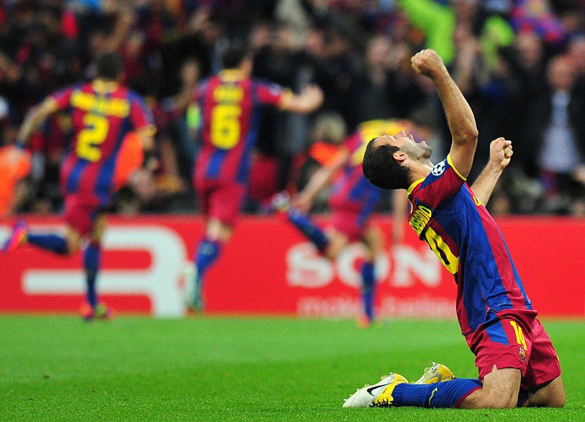 Javier Mascherano at Barcelona: #UCL   🏆🏆 UEFA Super Cup: 🏆🏆  La Liga: 🏆🏆🏆🏆  Club World Cup: 🏆🏆 Copa del Rey: 🏆🏆🏆🏆  Spanish Super Cup 🏆🏆🏆🏆  Favourite memory? 💪