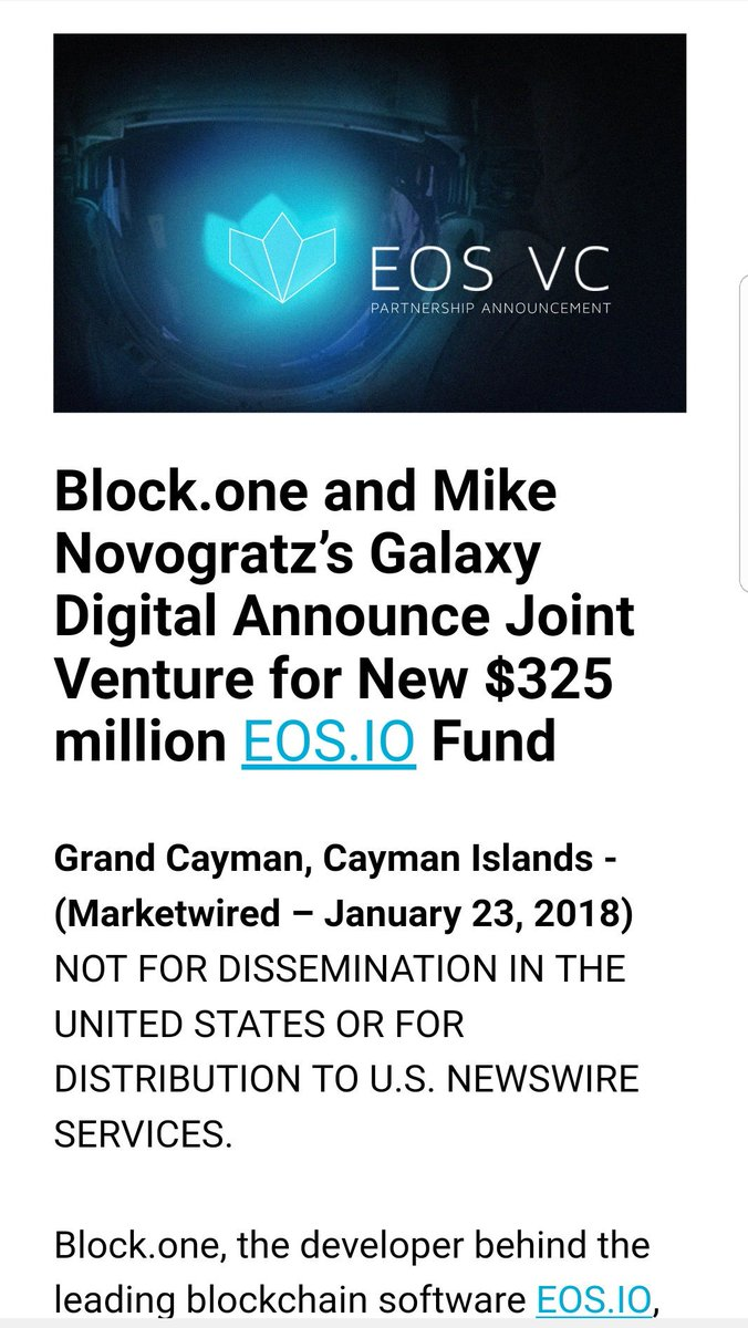 Justin Wu Ethdenver On Twitter  F0 9f 92 A5news Block One Mike Novogratz Create Joint Venture For New 325m Eos Fund This Is Huge  F0 9f 94 A5 This Is The Big Vc