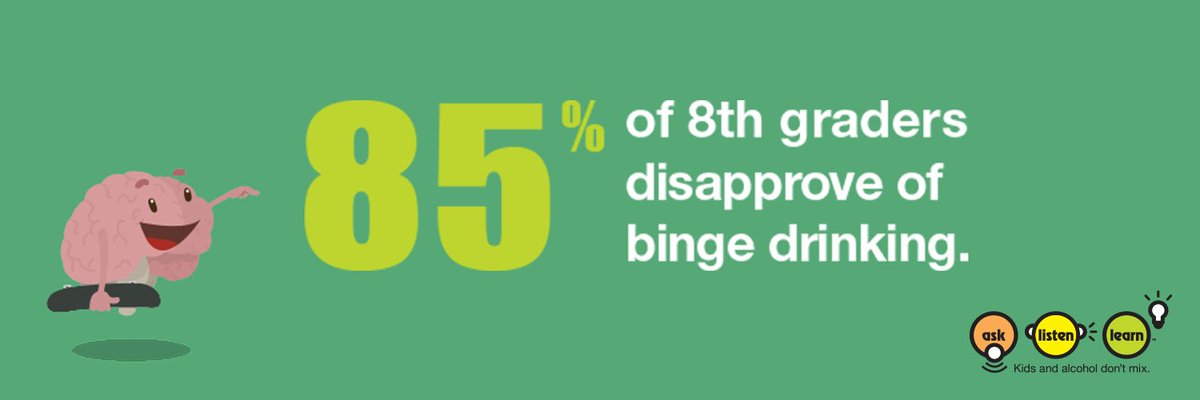 Do you know how many 8th graders disapprove of binge drinking? #NDAFW