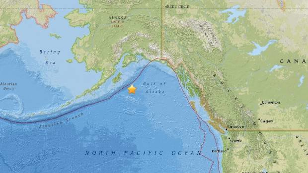 Magnitude 7.9 earthquake hits in Gulf of Alaska, tsunami warnings issued https://t.co/sGpZe97ttr