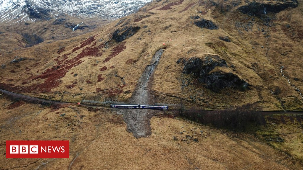 A new image taken by a drone of a train that was caught up in a landslip in the Highlands has been released by NetworkRail Scotland  https://t.co/4edPJYfrk7