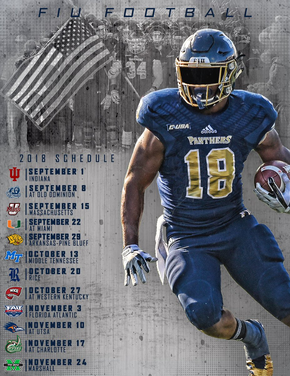 "fiu football on twitter: ""2018 schedule is set ✓ … """