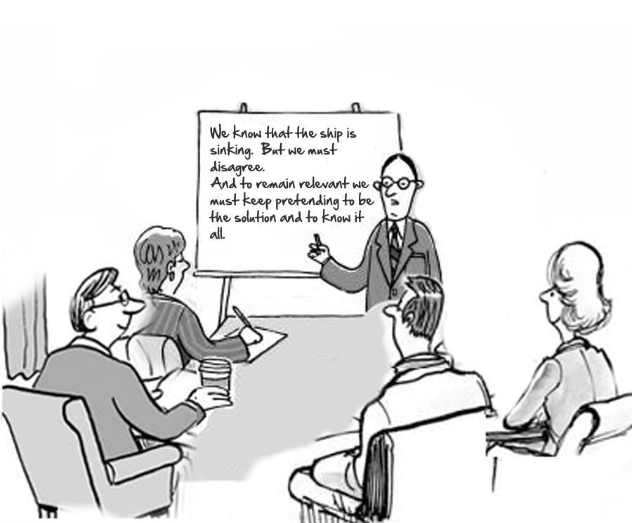 Image result for cartoon leadership obstruction