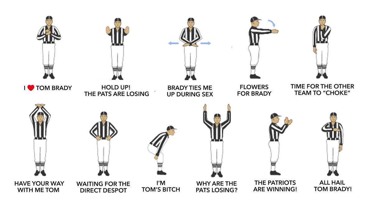 Updated referee signals: