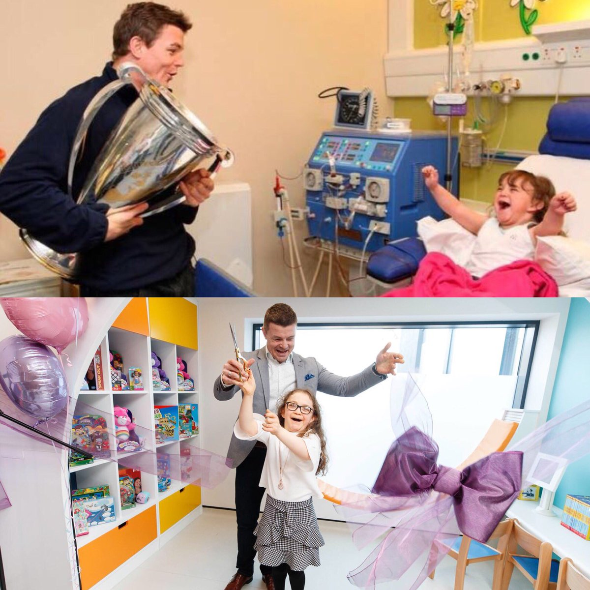 Always great to catch up with my little buddy Michaela Morley who is better than ever - at the opening of the new Renal & Neurology Outpatient Units  ear@Temple_Streetlier today. Thanks you to all the incredibly generous donors who helped make this happen.