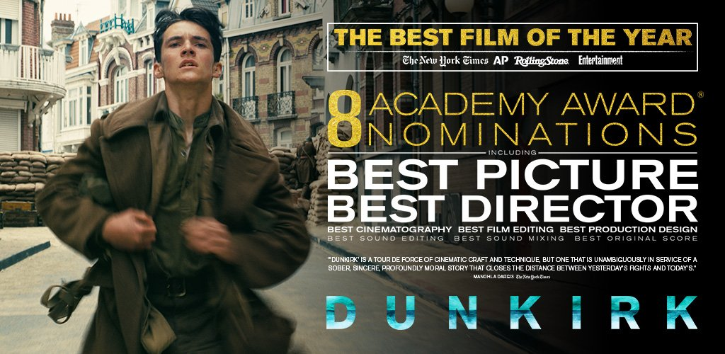 Congrats to the incredible team of #Dunkirk on today's 8 Academy Award nominations. #OscarNoms #BestPicture #BestDirector https://t.co/dbMwzwDMe9