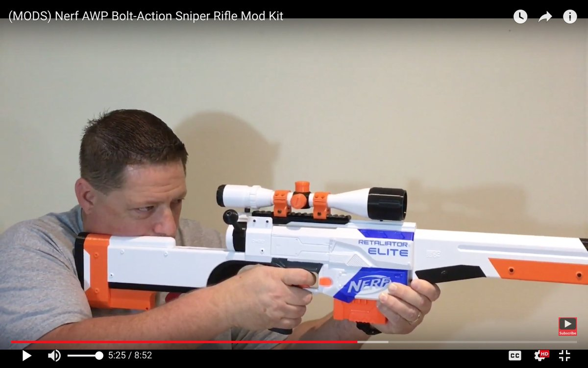 Cj Nerf On Twitter Nerf Awp Bolt Action Sniper Rifle Mod Kit Check This Out Click Here For Video Link Https T Co Gqnzcpsql6 Nerfgun Nerfmods Https T Co X5xxelwq9s