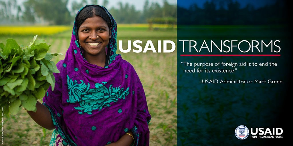 """The purpose of foreign aid is to end the need for its existence."" -@USAIDMarkGreen #USAIDTransforms"