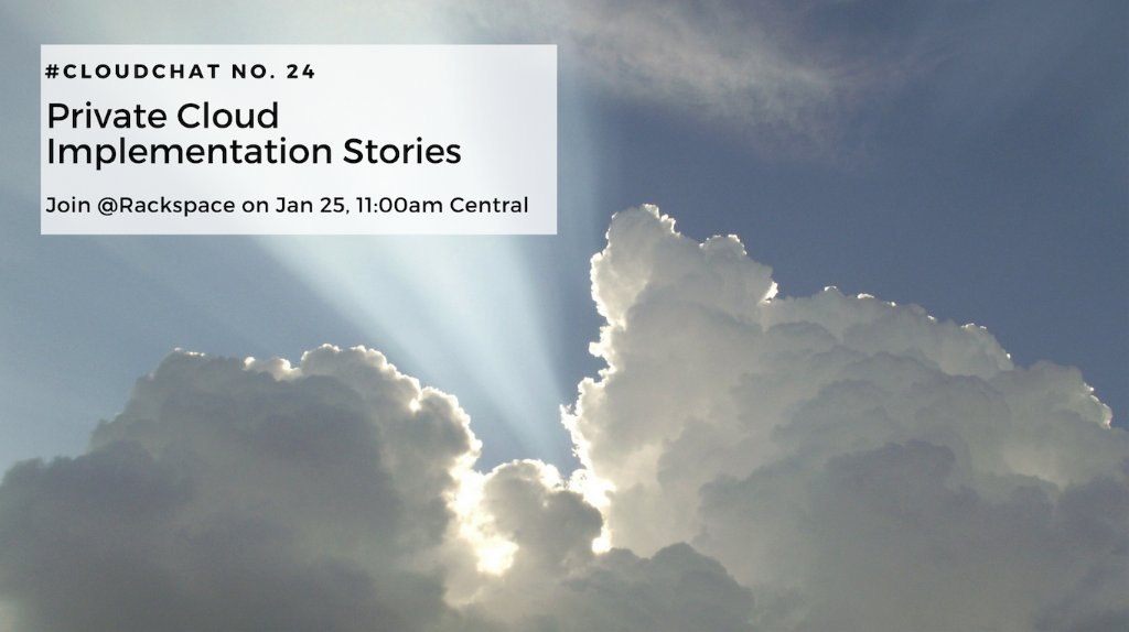 To finish out our #cloudchat series on #privatecloud we're sharing implementation stories. Mark your calendar for this Thursday at  11 AM CST, and use this guide to join the conversation! https://t.co/GpWhpgEcoE