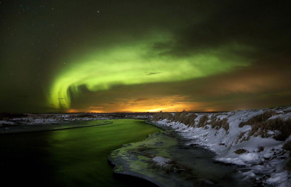Photos of the aurora borealis seen in Iceland on Jan. 19
