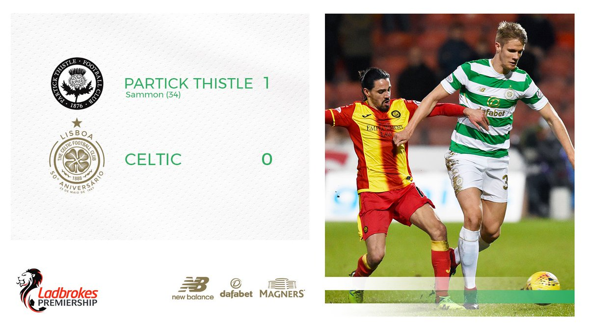 The Bhoys trail at the break. #PARCEL