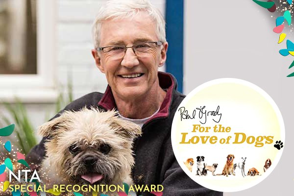 Winner of this year's Special Recognition Award, Paul O'Grady for The Love of Dogs! #NTAs #NTAs2018