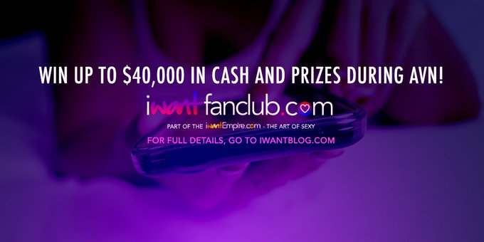 iWantFanClub is giving away $40,000 in cash and prizes during AVN! https://t.co/4mvv7Vcnn0 https://t