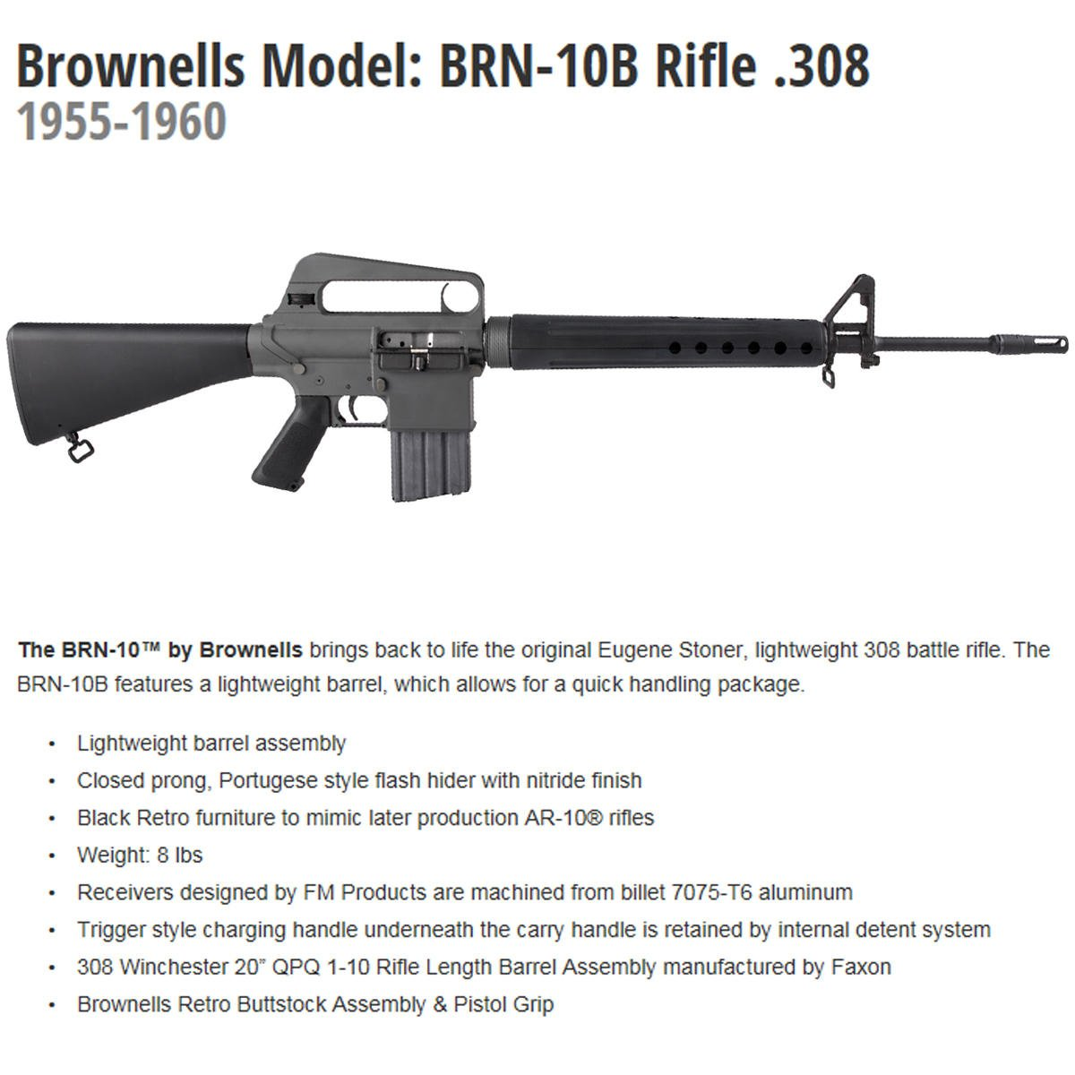 Brownells inc on twitter introducing the brownells model brn brownells inc on twitter introducing the brownells model brn 10b rifle 308 1955 1960 brownells brings back to life the original eugene stoner thecheapjerseys Choice Image