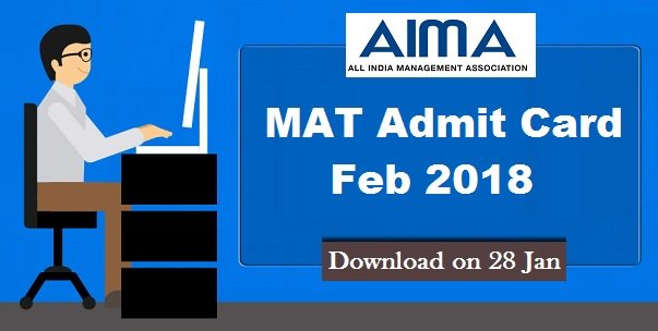 #MATAdmitCard for February 2018 exam will be released by #AIMA on #28January. Candidates, Who have submitted the #applicationform and fee can Download #MAT2018AdmitCard After complete the #MATRegistration @ http://bit.ly/2FlEHTy