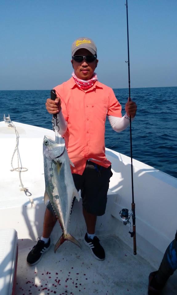 ドバイ在住のChris Nucum氏より、釣果報告を頂きました! 彼は耐摩耗性優れるハイパフォーマンスフロロカーボンNEOの大ファンだそうです。ライトタックルでヨコシマサラワ(1.2m越え)や雷魚等、20lbでゲットされました!!