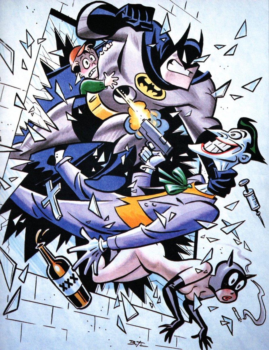 アニメーション作家ブルース・ティムが描いた「子供向けアニメでやってはいけないこと」ばかりを描いた有名な絵があります。 さていくつわかりますか?9つわかれば合格です。