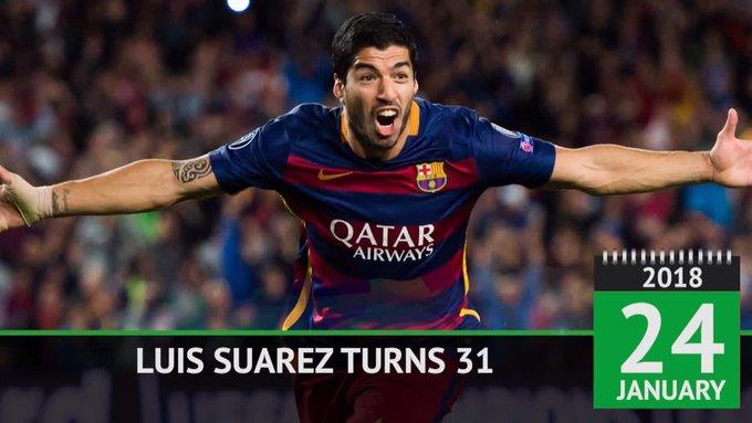 Happy Birthday to Barcelona & Uruguay star Luis Suarez...  He\s had quite the career!