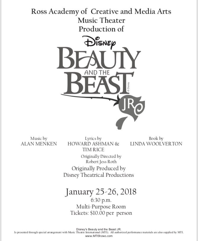 Niemes elementary on twitter join rosas middle school in their niemes elementary on twitter join rosas middle school in their production of beauty and the beast january 25 26 see attached flyer stopboris Gallery