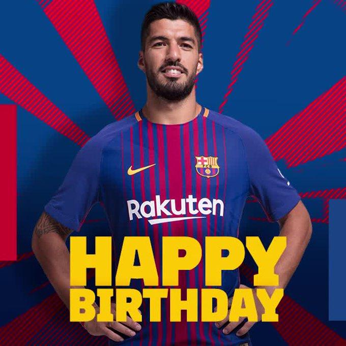 Happy 31st birthday to Luis Suárez!