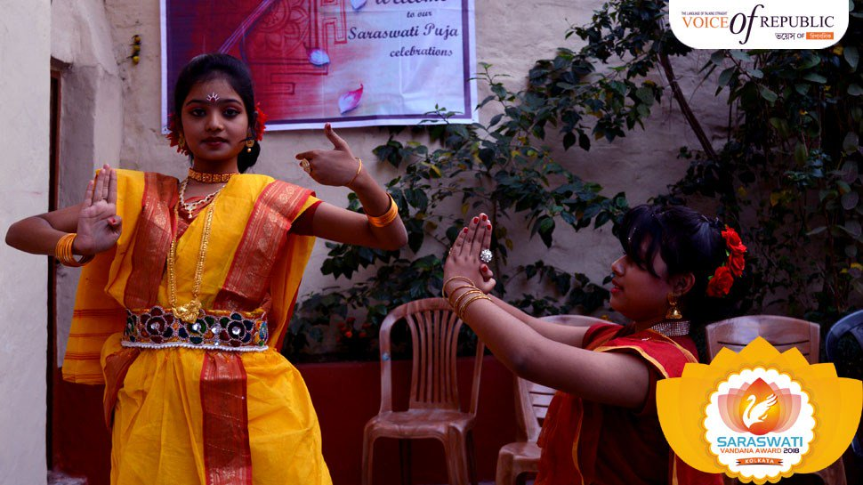 [SVA2018] La Maternelle Primary & High School #bhagwatibiscuits #saraswatipuja #Saraswativandana