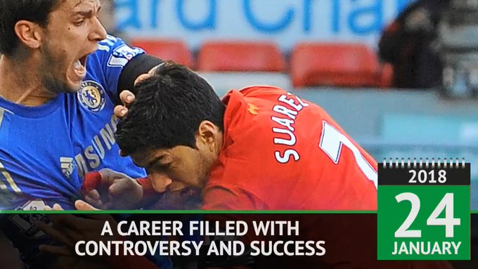 Happy birthday Luis Suarez!  The Barcelona striker turns 31 today.